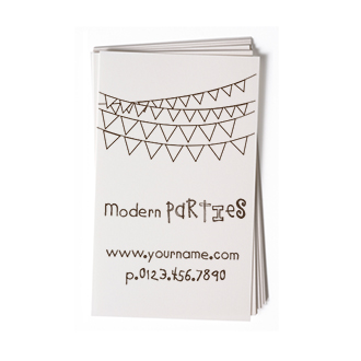 Custom Rubber Stamp - Business Card - Party Garland - BC76